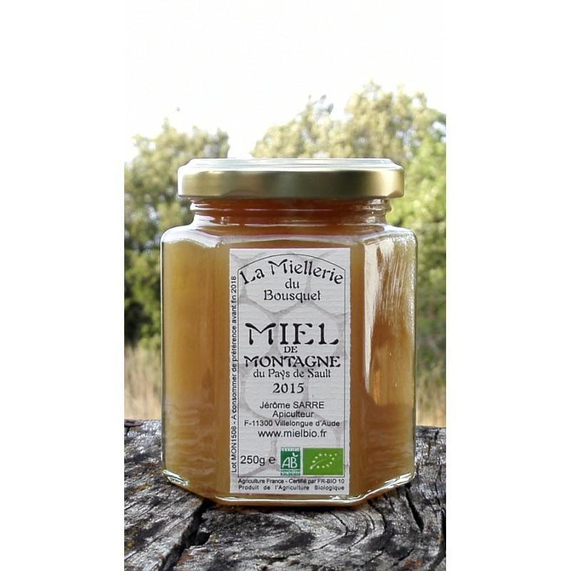 Miel de Montagne Bio 2015 en pot de 250g