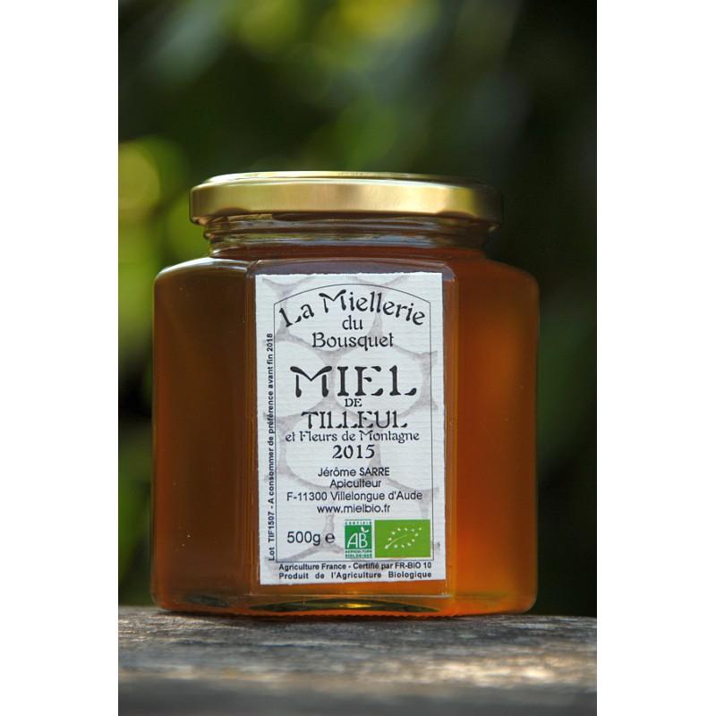 Miel Bio de Tilleul de Montagne 2016 pot 500g