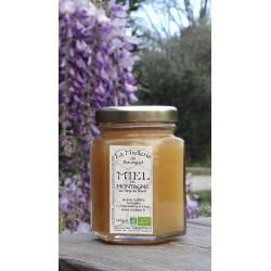 Miel de Montagne 2017 en avril 2019. Ce miel est cristallisé.