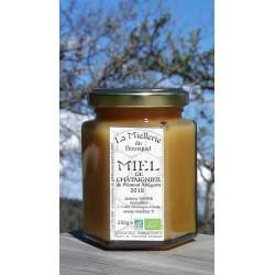Miel de Châtaignier Bio Ariège 2018. Ce miel est cristallisé, photo mars 2019