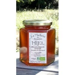 Miel Bio de Villelongue d'Aude 2018. Aspect à la récolte.
