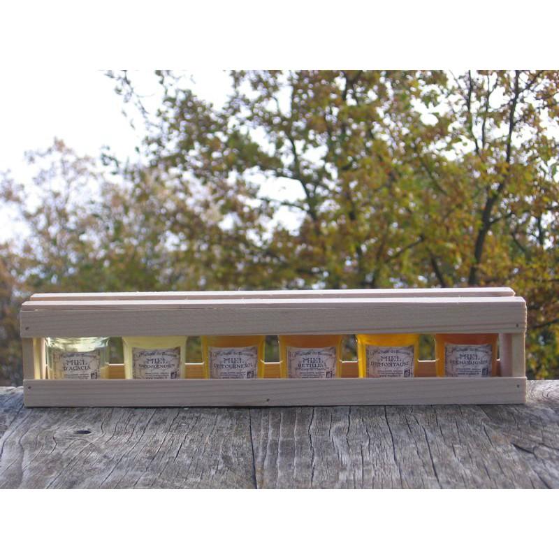 Coffret cadeau dégustation 6x50g de miel bio