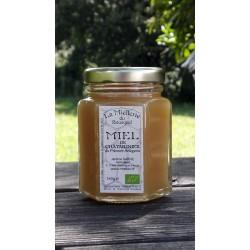 Miel de Châtaignier Bio Ariège aspect actuel juin 2020 miel cristallisé