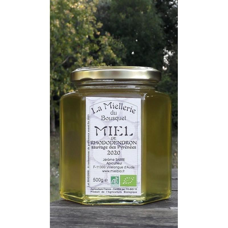 Miel de Rhododendron Bio de Pyrénées. Aspect à la mise en pot en août 2020.